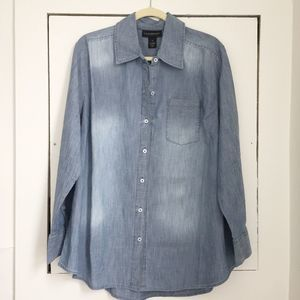 Lane Bryant Denim Chambray shirt